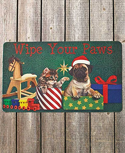 30 Quot Wipe Your Paws Christmas Pets Cats Dogs Happy Holiday