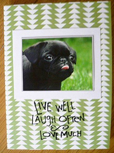 Black Pug Greetings Dog Card Birthday Wishes Handmade Dog Lover Card Happy Birthday Dog Notecard Notelet Thank You Card Cute Pug A6 C6 Notecards Greeting Cards