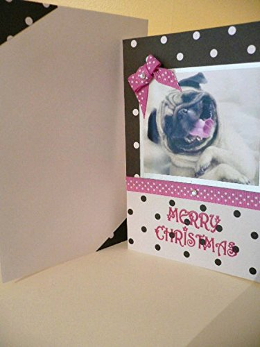personalised party thank you notes notelets CHRISTMAS DOG PUPPY XMAS