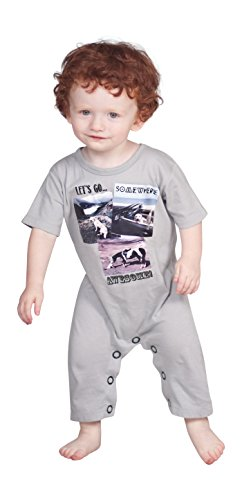 bcd1d755e23 Jelly The Pug Baby Boys  Somewhere Awesome Romper 18MO Multi ...