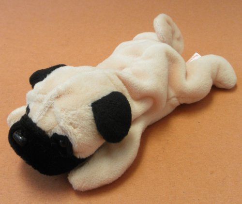 TY Beanie Babies Pugsly the Pug Dog Plush Toy Stuffed Animal ... fde0f364696